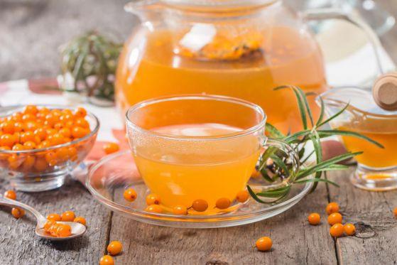 облепиховый чай рецепт. рецепт горячих напитков.напитки зимой