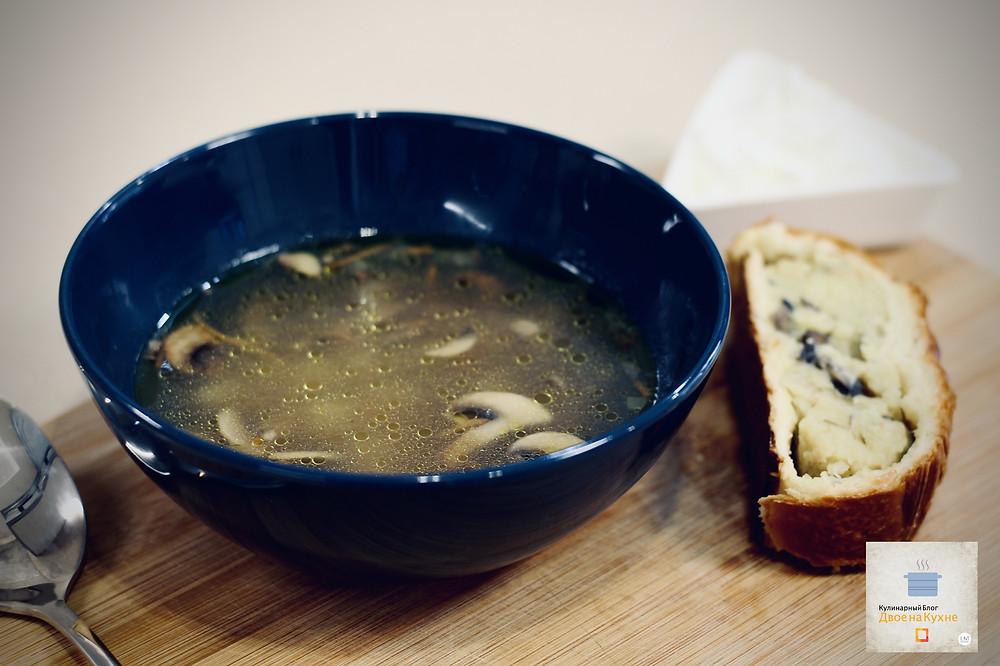 Простой пошаговый рецепт грибного супа из шампиньонов с пошаговым описанием и фото