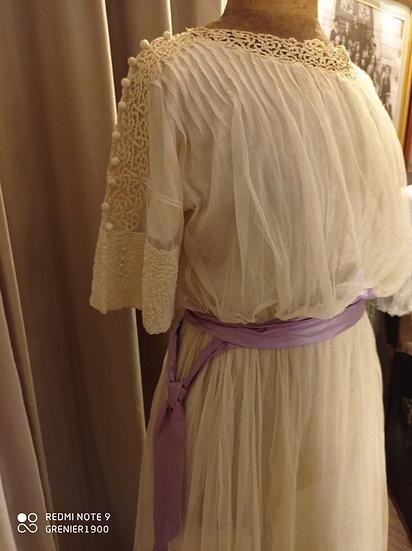 Très jolie robe ancienne des année 1910's (Titanic)