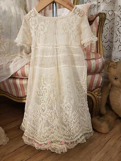 Ravissante Robe de Fillette en tulle, voile et dentelle