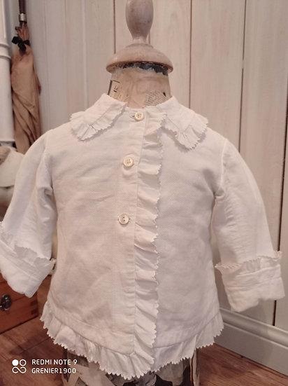 Charmante Brassière en coton épais et broderies
