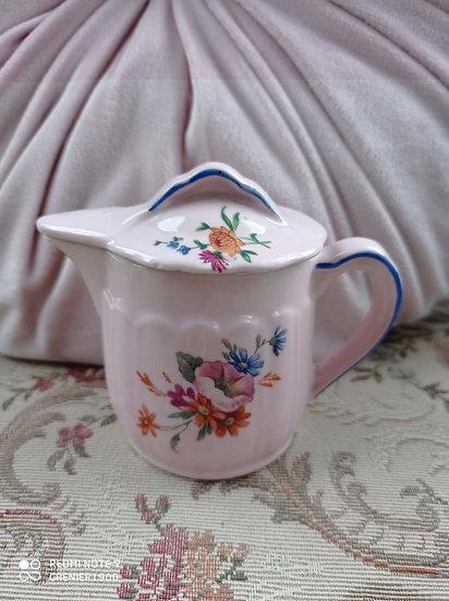 Charmante série de 6 pots en faïence de couleur rose