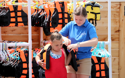 Getting fitted for life jackets