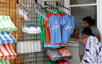 Browsing merchandise at Mama's Kitchen, located at the Main Lodge