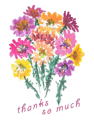 Colorful Bouquet TY Notecard