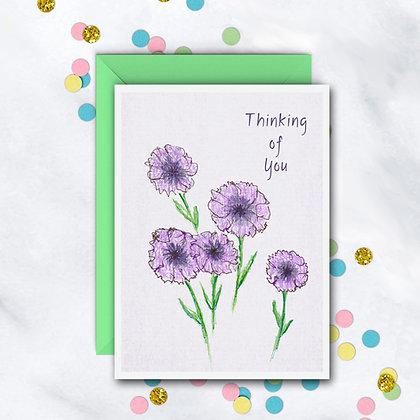 Purple Flowers Card