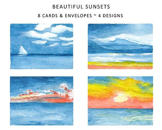 Beautiful Sunsets Note Set