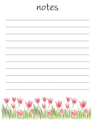 Tulips Notepad