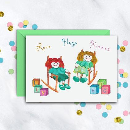 Love Hugs Kisses Card