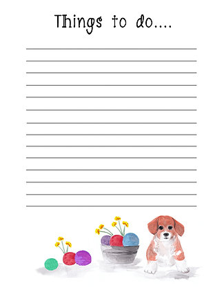 Dog With Toys Notepad