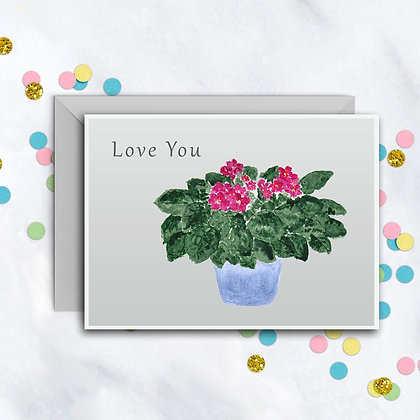 Love You Violets Card