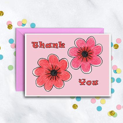 Mod Flowers TY Notecard