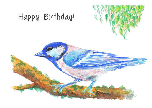 Birthday Blue Bird Card