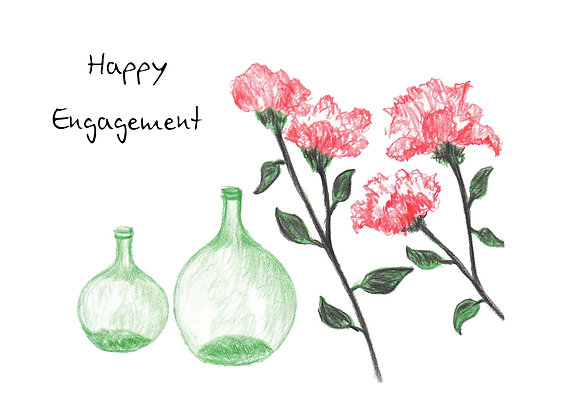 Green Vases Card
