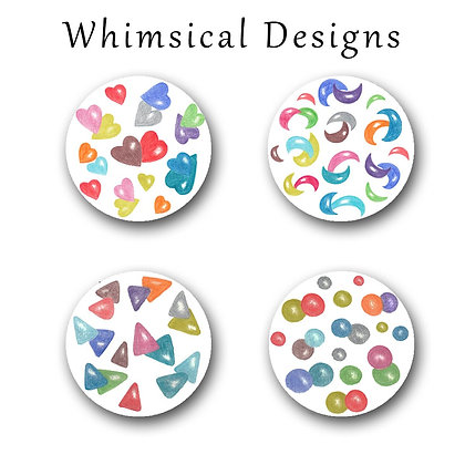 Whimsical Designs Button Magnets
