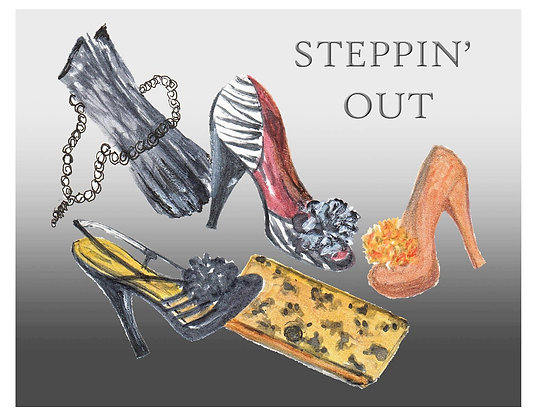 Steppin' Out Notecard