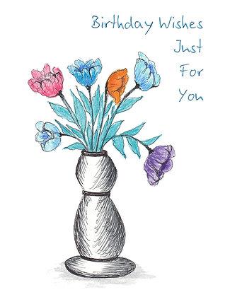 Floral Bud Vase Card