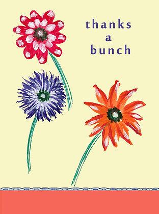 Flower Trio TY Notecard