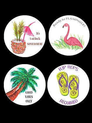 Beach Vibes Coasters