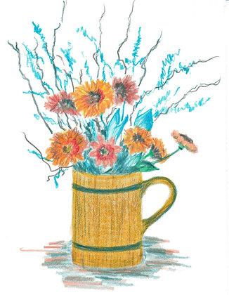 Autumn Flowers Notecard