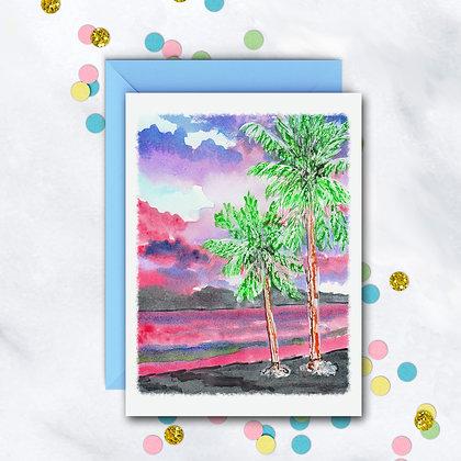 Tropical Sunset Card