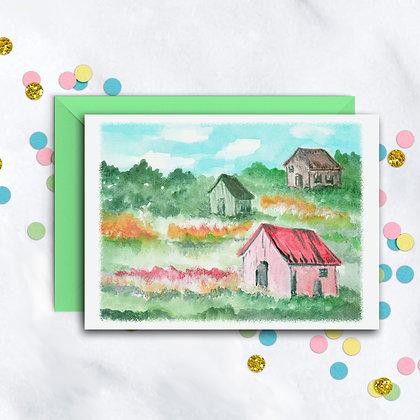 Country Scene Notecard