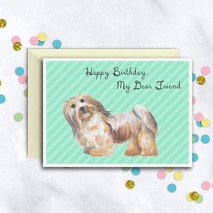 Birthday Puppy Card