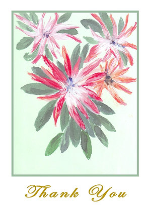 Pink and Green Foliage Card