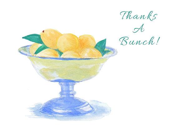 Lemon Bowl TY Notecard