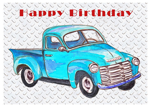 Birthday Truck Card