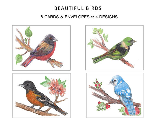 Beautiful Birds Note Set