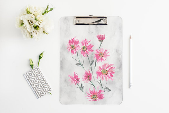 Pink Daisies Clipboard