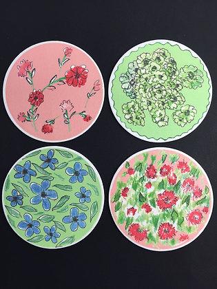 Floral Delites Coasters