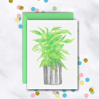 Green Plant Notecard