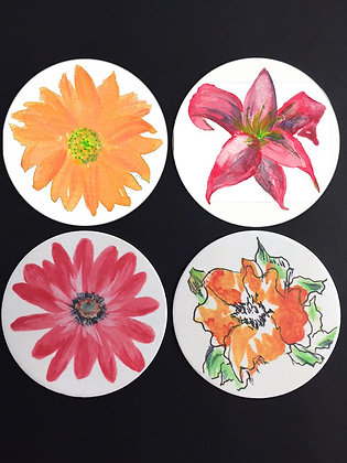 Bold Flowers Coasters