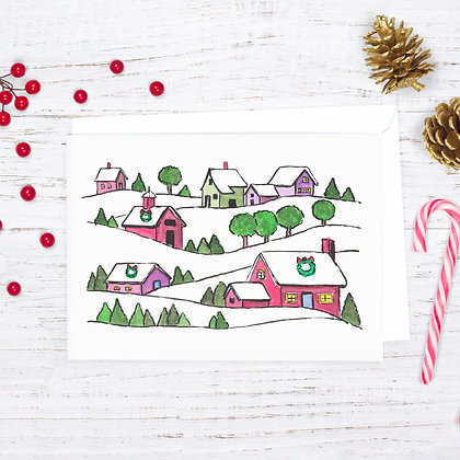Holiday In The Hills Card