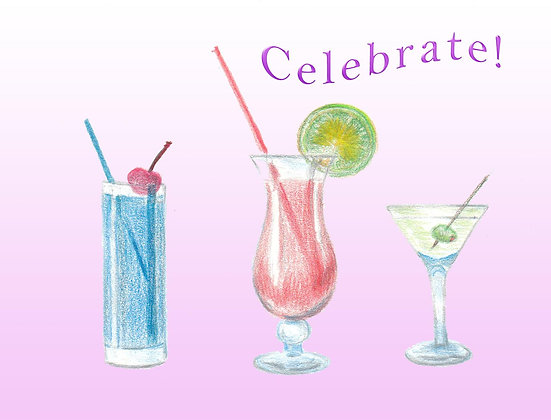 Celebrate Cocktails Card