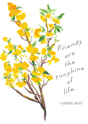 Friends Are Sunshine Card