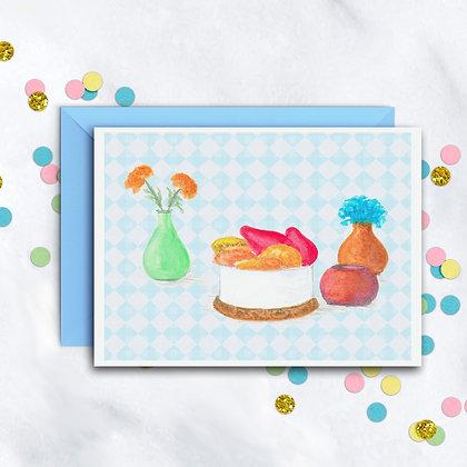 Mini Cheesecake Notecard