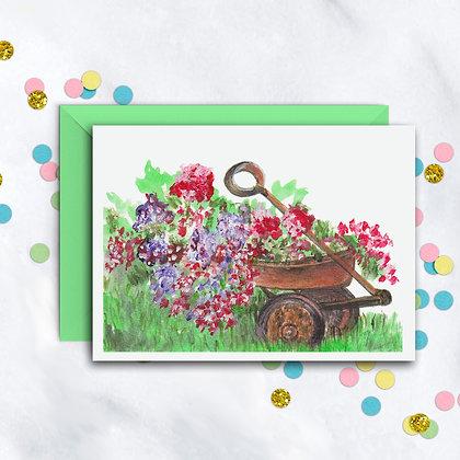 Beautiful Wagon Notecard