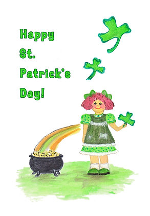 Irish Girl Card
