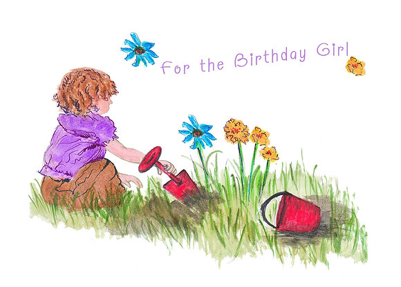 For The Birthday Girl Card
