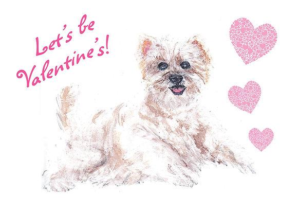 Valentine Puppy Card