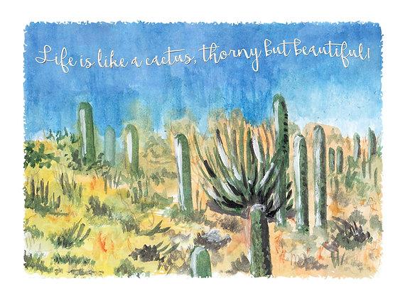 Thorny Cacti Art Print