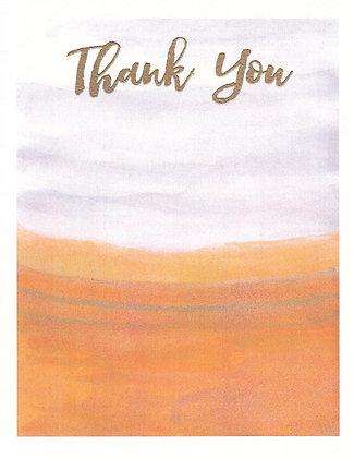 Warm Watercolor Card