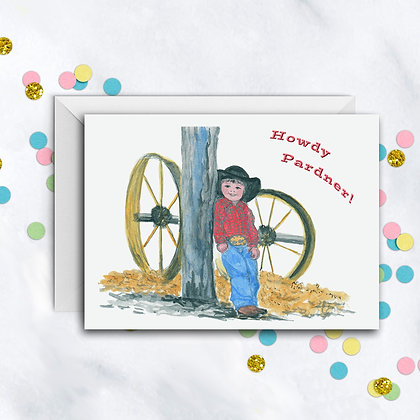 Howdy Pardner Card