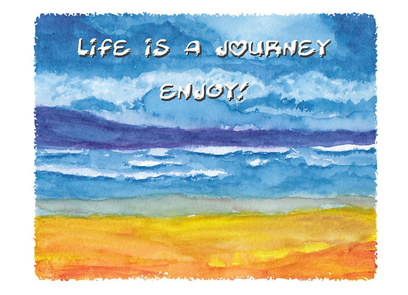 Life's A Journey Card