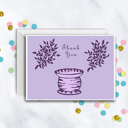 Lavender Design TY Notecard