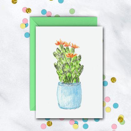 Cute Cactus Notecard