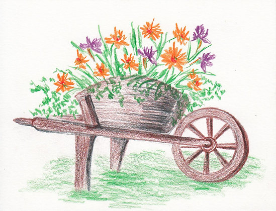 Floral Cart Notecard